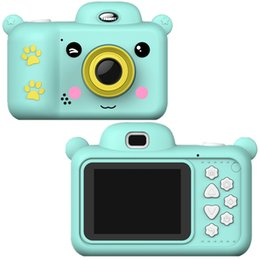 battery operated toys 2021 - Children Mini Digital Camera 2.4 Inch Screen 1080P HD Video Selfie Cartoon Cute Photo Camera Children Toy Camera Birthday Gift