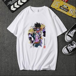 Wholesale jojo bizarre adventure resale online - 2021 Men Women T shirt Jojo Bizarre Print Adventure Cool Japanese Anime Style Soft Cool Tee Top Casual fashion
