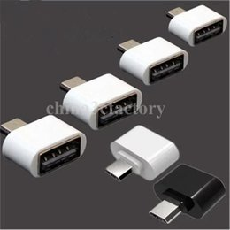 Wholesale cell phone usb otg for sale - Group buy Universal Micro USB To USB OTG Mini Adapter Converter for Cell phones accessories Android Drop shipping