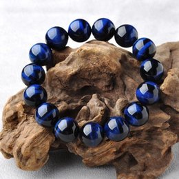 Discount blue tiger eye jewelry High Quality Natural Lapis Lazuli Blue Tiger Eye Stone Beads Bracelets for Women & Men Stretch Round Bracelet Couple Jew
