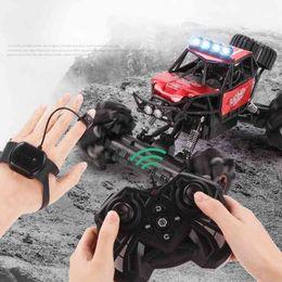 2.4G stunt boy gesture sensing remote control crosswalk drift car toy cross country racing Watch on Sale