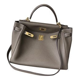 Bigh size 46cm Luxury gift bag Litchi Pattern Tote Shoulder Crossbody Cowhide 25 28 32 Hand-Carrying Genuine Leather Womens Lock Catch Kaili
