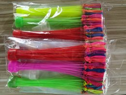 Summer outdoor party water balloon for kid entertainment toy multi color both boy and girl 1set=3beam=111pcs