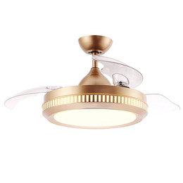Wholesale Hot Sale Quality Exquisite Workmanship Decorative Lighting Energy-saving Lamp Hidden Folding BLDC LED Ceiling Fan High Quality Ceiling Fan