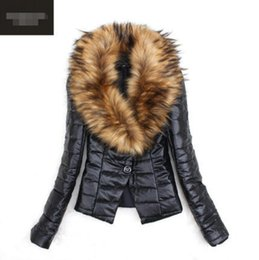 Wholesale model short coat women for sale - Group buy European and American hot models autumn and winter imitation fur coat women short pu fur one fox hair plus cotton cotton coat