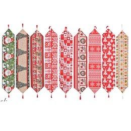 Рождественские тканевые столовые бегун 180 * 35 см Веселые рождественские кухонные столы украшения DWD11246 на Распродаже