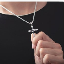 christian cross necklace women NZ - Simple Fashion Cross Chain Necklace For Women Men Luxury Ladies silver Jewelry Pendant Necklaces Crucifix Christian Ornament Gifts