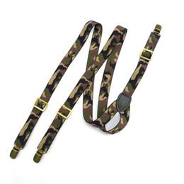 Moda suspensórios clipes de metal cinta calças cinta camo pesado y year suspensórios de volta clipe ajustável em unisex em Promoção