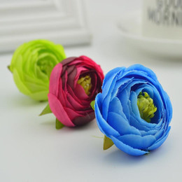 small vases for flowers 2021 - 100pcs Artificial Plastic Rose Flowers Cheap Bridal Accessories Clearance Vases For Decora Wedding Diy Wreath Silk Small jllGZi