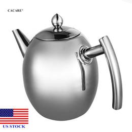 Чайник кофе горшок водяной чайник с фильтром большой емкости 1л нержавеющей стали H0004 US сток быстрая доставка на Распродаже