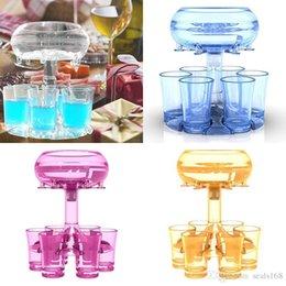 Nuovo distributore e supporto in vetro 6 girato 6 bicchieri da vino trasparente versante strumenti bar per bicchieri da vino forniture per feste HH21-137 in Offerta