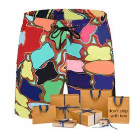 Wholesale 21 Summer Men Board Shorts Contrast Color Letter Pattern Fashion Ins Hot Sale Men Swimwear Trendy Breathable Beach Swim Shorts