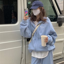 Wholesale korean suit female for sale - Group buy Korean Style Student Loose Figure Flattering Sports Set Female Spring and Autumn Fashion Fashionable Sweater Casual Two Piece Suit Running S