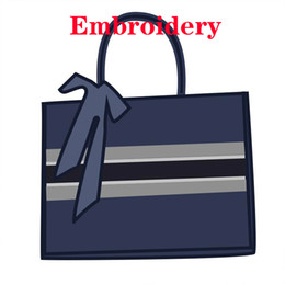 top designers bags 2021 - Custom Name 3D Hand Embroidery Bag Luxurys Advanced Designers Totes Women Book Purse Top Quality Handbags Jacquard All Letter 2021 DIY Tiger Canvas Shopping Bags