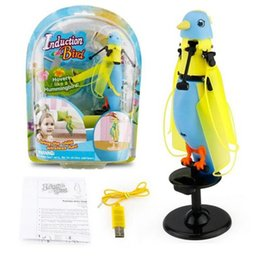 CX - 51 Hand Induction Infrared Flying Parrot Toys Singing Bird with LED Lights for Kid