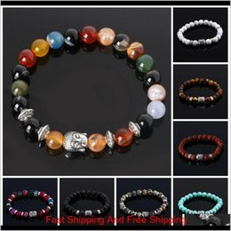 cheap bracelets for wholesale 2021 - Mens Bracelets Luxury Jewelry Bead Natural Stone Jewelry Cheap Anchor Beaded Buddha Bracelets For Men Women Buddha Lava Chakra Dewop Vn2Be