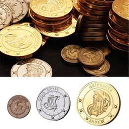 3pcs Commemorative Coins Collect Badge Coin Set Unum Kout Unum Galleons Unum Stckle Gringotts Hogwarts Bank Wizarding Coin Set on Sale