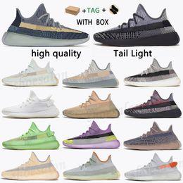 Toptan satış 2021 Kanye V2 Batı Yekeil Kül Taş Mavi İnci Fade Antlia Ayakkabı Karbon Doğal Dünya Kültür Zyon Beyaz Yansıtıcı Erkek Kadın Sneakgsgx #