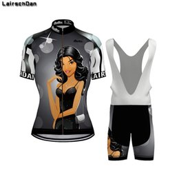 Wholesale Racing Sets LairschDan Women Cycling Jersey Set Summer Breathable Mountain Bicycle Clothes Maillot Cyclisme Femme Ladies Sexy Bike