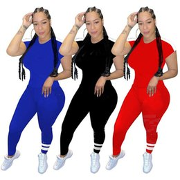 bowling tee shirts Australia - 2xl summer outfits women tracksuits T-shirt sports sets tee jogger suits slim pants 2 piece sets casual leisure wear female sweat suits 2835
