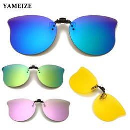 photochromic night driving sunglasses 2021 - YAMEIZE Polarized Sunglasses Photochromic Clip On Sun Glasses Night Vision Glasses Driving Shades Eyewear Accessories Driver UV