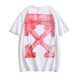 nouvelle image de chemise de mode achat en gros de-news_sitemap_homeMode Chao Marque Off White2021 Spring and Summer New Ow Picture arrow Print Unisexe Sleeve T shirt