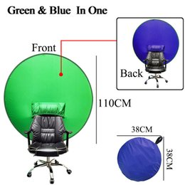 Wholesale Green Screen Chorma Key Backdrops Background Material Portable Fold Reflector for Live broadcast Video Round 2in1 Chair Panel