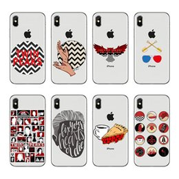 Wholesale twin peaks resale online - Silicone transparent Cover Phone Case For Iphone X Plus XR Max Funda Coque Twin Peaks Fire Walk With Me Dale Cooper