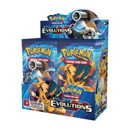 324 adet Pokmon Kartları TCG XY Evolutions Booster Ekran Kutusu (36 Paketler) Oyunu Çocuk Koleksiyon Oyuncaklar Hediye