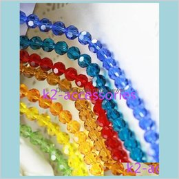 Wholesale Ab Multicolour Faceted Ball Crystal Glass Loose Beads Faceted 6Mm Necklace Bracelet Colors Jewelry Making Igxpj Vcpwm