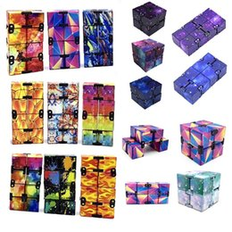 DHL FRee Infinity Magic Cube Creative Galaxy Fitget toys Antistress Office Flip Cubic Puzzle Mini Blocks Decompression Toys CJ11