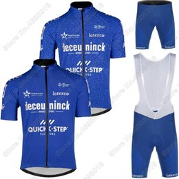 Wholesale Racing Sets Pro Team QUICK STEP Cycling Jersey Summer Set Clothing Road Bike Suit Bicycle Pants Ropa Ciclismo Maillot Cyclisme