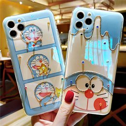 ingrosso iphone casi doraemon-Caso di iPhone Doraemon per iPhone Pro Max X XS Plus Cover Case del telefono Cartoon Huawei P40