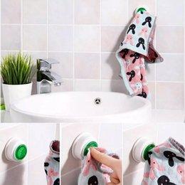 Toalhas de banheiro Suspensão do Organizador Organizador de Cozinha Pad Hand Towel Racks Lavar Clipe de Pano de Relaxe Rack de Armazenamento EEB5432 em Promoção