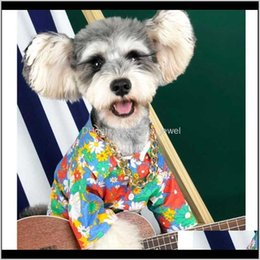 flora costume 2021 - Classic Flora Printed Pet Shirts Hip Hop Personality Charm Pet T-Shirts Summer Latest Pattern Schnauzer Teddy Apparel 208Ye Hdtvz