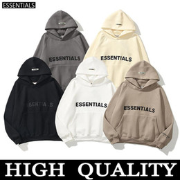 Wholesale womens streetwear fashion for sale - Group buy Warm ESSENTIALS Hooded Hoodies Mens Womens Fashion Streetwear Pullover Sweatshirts Loose Hoodies Lovers Tops Clothing