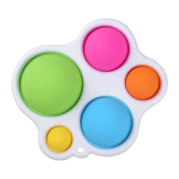 Baby Sensory Simple Fidget Toy Silicone Flipping Board Early Educational Christmas Xmas Gifts Kids Children on Sale