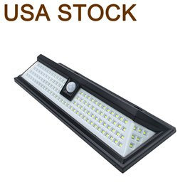 Outdoor Solar Lampen Wandlamp 118 LED met bewegingssensor brede hoek Waterdichte buitenshuis Beveiligingsverlichting voor garage patio tuinrijlaan yard-auto, witte verlichting