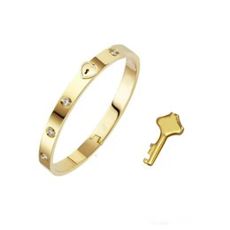 Luxury designer jewelry womens bracelets stainless steel 18k gold man bangle chains fashion love bracelet heart lock screwdrivers for woman on Sale
