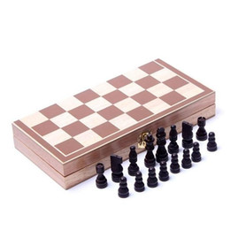 Wholesale Wooden Chess 30*30 Folding Puzzle Board jllHeO warmslove