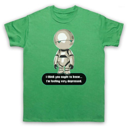 Wholesale android shirts resale online - MARVIN PARANOID ANDROID UN HITCHHIKERS GUIDE T Shirt ADULTS mens SIZES Tops Tee Shirt Loose Size ajax funny1
