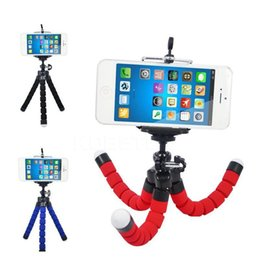 cell phone tripod adapter UK - Universal Stretch Adjustable Cell Phone Tripod Octopus Holder Stand With Clip Mount Adapter 360 Rotation For Iphone Smartphone Camera Ajubp