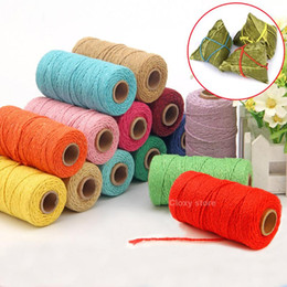 1 Roll (100 Yards) 2mm Cotton Rope Twine Macrame Thread Cord String Wedding Decoration Gift Packaging Rustic Country Craft on Sale