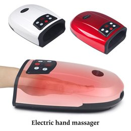 physiotherapy equipment UK - Heated Hand Massager Physiotherapy Equipment Pressotherapy Palm Massage Device Air Compression Finger Massager