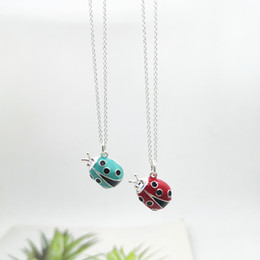 jewelry beetles Australia - 2021 New Sterling Sier 925 Classic Fashion Exclusive Blue Beetle Pendant Ladies Necklace Jewelry 7rur