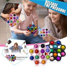 Punch Pop Up Fidget Spinner Oyuncak Fidgett Spinneres Basit Digple Stres Rölyef Popping Bu Kabarcık Fidgets Spinners Oyuncaklar Yetişkin Çocuklar