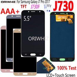 Wholesale samsung digitizer for sale - Group buy LCD for SAMSUNG Galaxy J7 Pro J730 Display Touch Screen Digitizer Assembly for SM J730F J730FM DS J730F DS J730GM DS TFT Amoled
