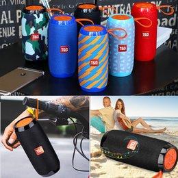 Wholesale TG106 Mini BT Speaker Hifi Stereo Protable Wireless Soundbox Subwoofers Loudspeaker Outdoor MP3 Music Players USB FM PK TG116 TG117