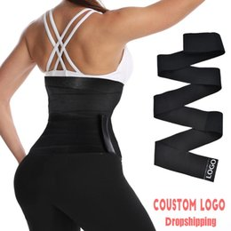 Kvinnors Shapers Aiconl Waist Trainer Corset Belly Tummy Wrap Fajas Slim Belt Control Body Shaper Modeling Strap Cincher