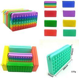 Wholesale Push Bubble Pop Fidget Pencil Bags toys Decompression Toy Stationery Storage Bag Pattern Popper Bubble Fingertip Sensory for Children Gifts